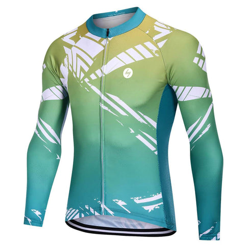 Long Sleeve Cycling Jersey - Mint