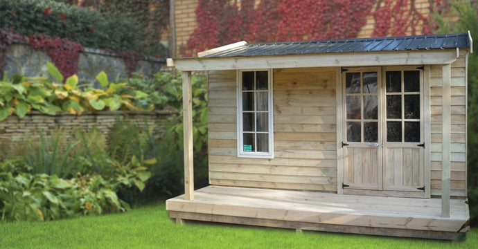 Combination Shed  4m x 2.4m - 9.6sqm