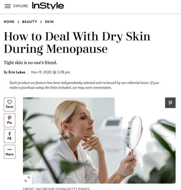 How to Deal With Dry Skin During Menopause
