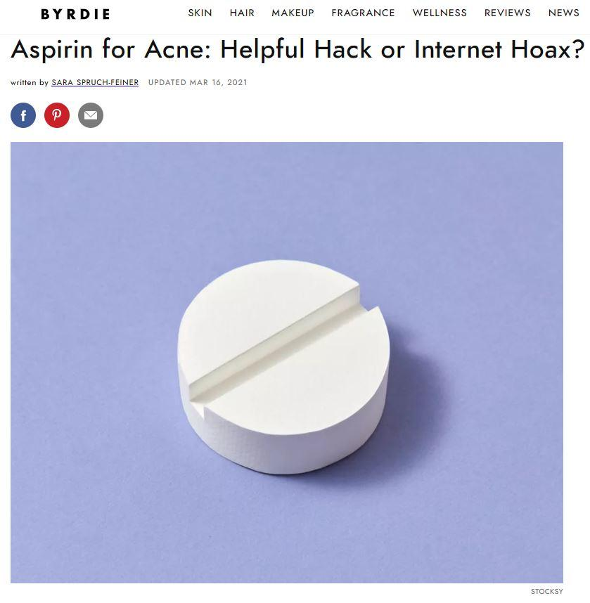 Aspirin for Acne: Helpful Hack or Internet Hoax?