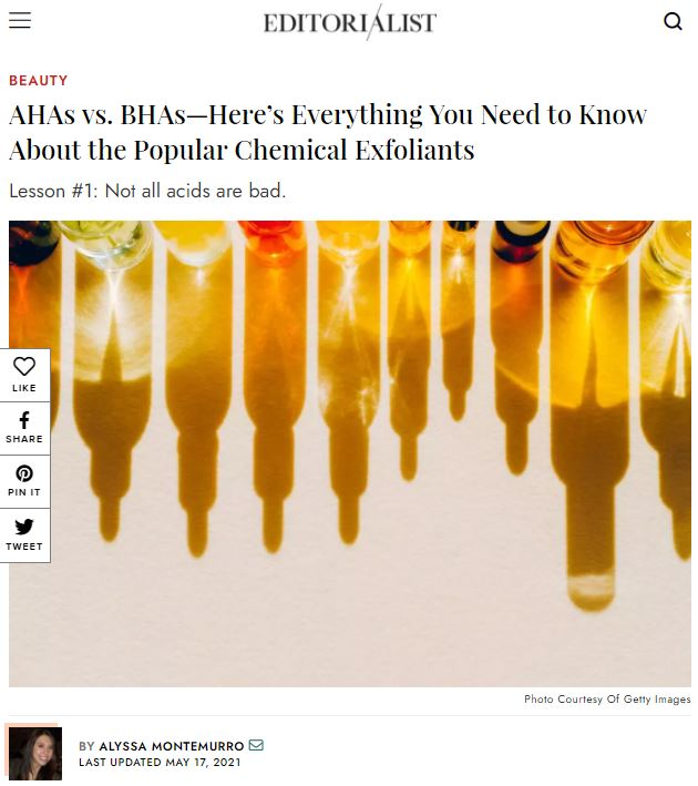 AHAs vs. BHAs—Here's Everything You Need to Know About the Popular Chemical Exfoliants