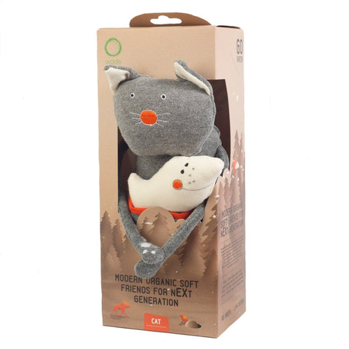 Wooly Organic Funky Feet Soft Toy - Cat