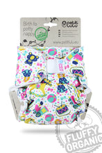 Petit Lulu Maxi Night Nappy, Fluffy organic - Hook and Loop