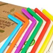 Reusable Silicone Straws 6 pack