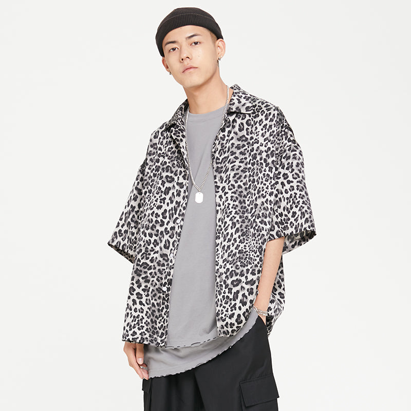 DETA Animal Print Button Up