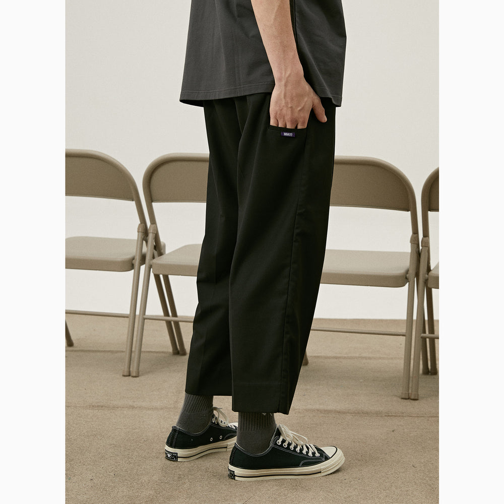 MULT SS Double Pleated Cropped Pants
