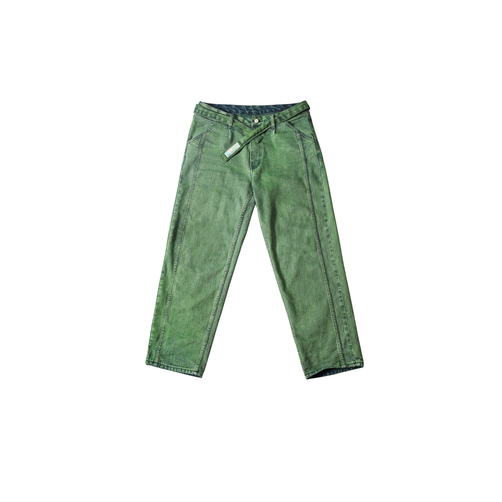 EVILKNIGHT 2019 SS Heavy Green Washed Jeans