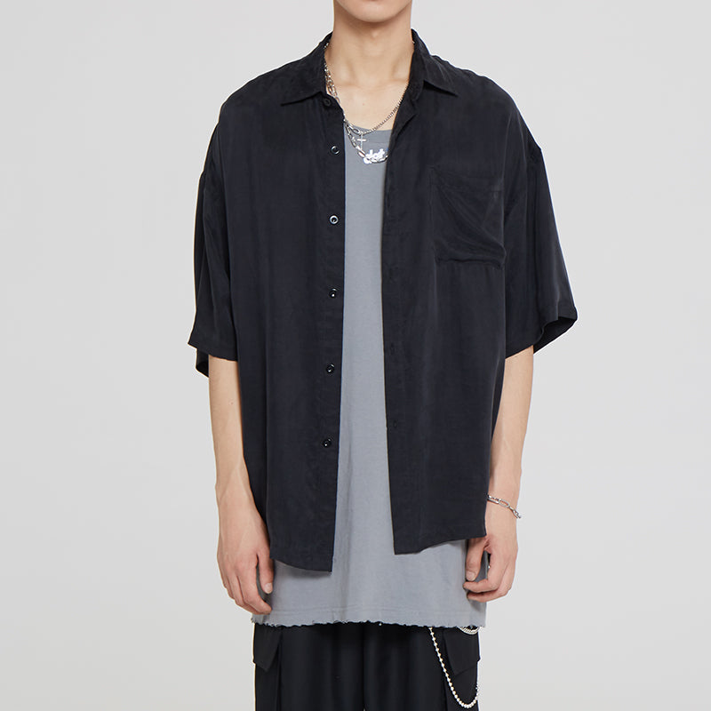 DETA Distressed Over Sized Button Up