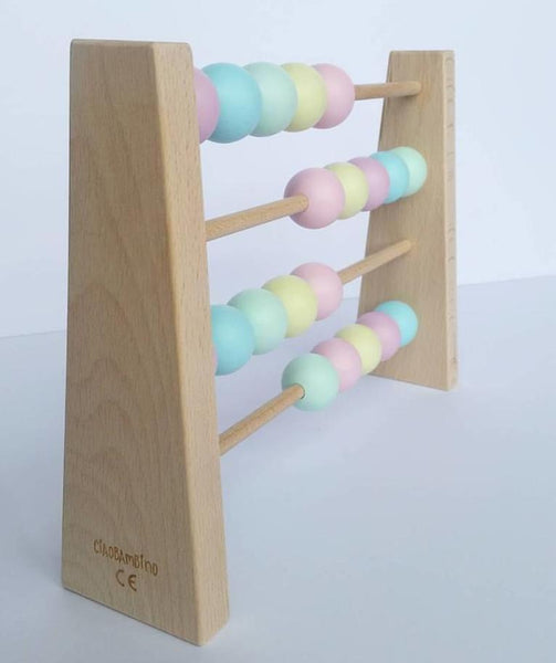 Wooden Abacus - Pastel Colours Wooden Toys - Suzemu - baby play - quality wooden toys - wooden toys
