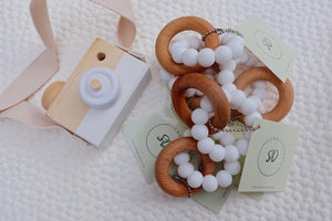 White Beech Wood Teether Teether - Suzemu
