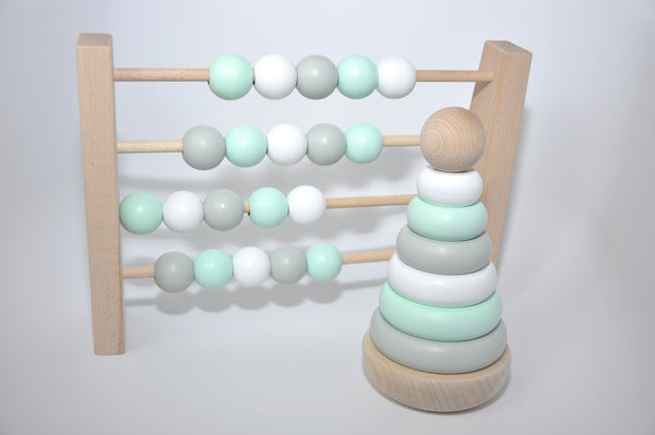 Wooden Abacus - Pastel Colours Wooden Toys - Suzemu - baby play - quality wooden toys - wooden toys - wood toys for babies - childrens wooden toys