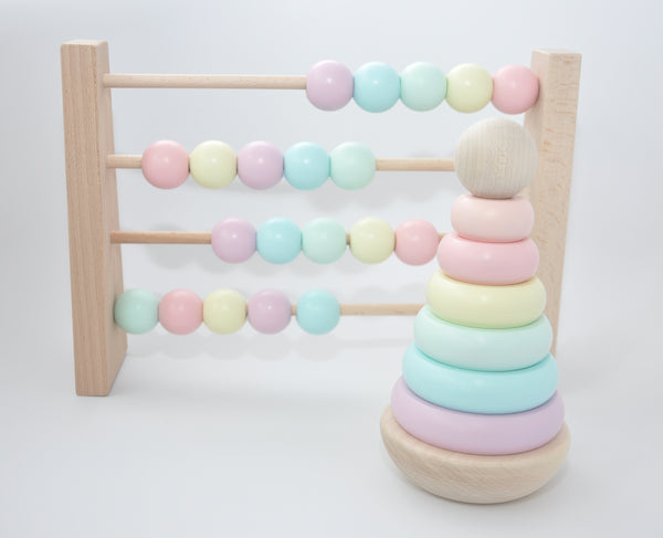 Wooden Ring Stacker - wooden toys - stacking rings - wood toys for babies - quality wooden toys - baby play - childrens wooden toys