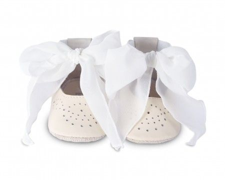Angel Ballerina Baby Shoes With Chiffon Tie Shoes - Suzemu