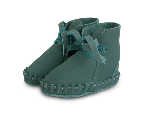 Donsje Leather Pina Baby Booties - Amazon Green Shoes - Suzemu