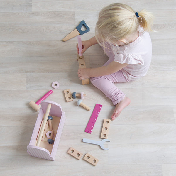 Wooden Toolbox - Pink