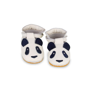 Donsje Leather Spark Velcro Baby Shoes - Panda Shoes - Suzemu