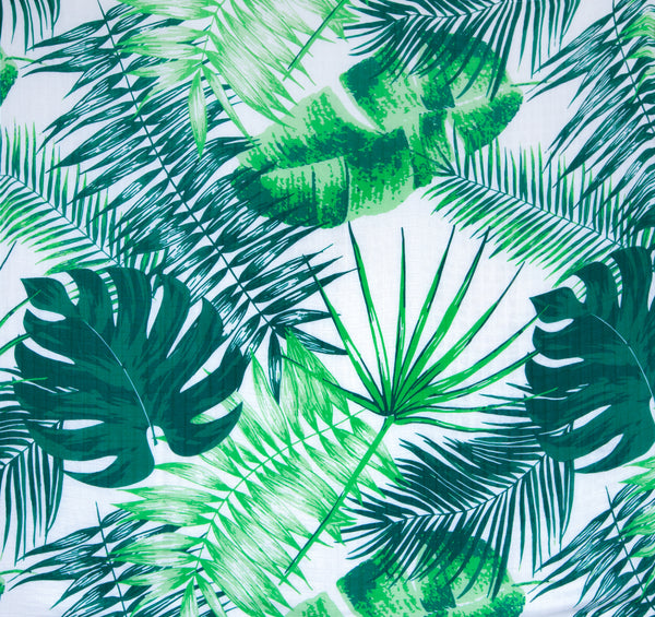 Extra Large Baby Muslin from Mama Rules made from Bamboo and Cotton in a trendy tropical print. Available from Suzemu.