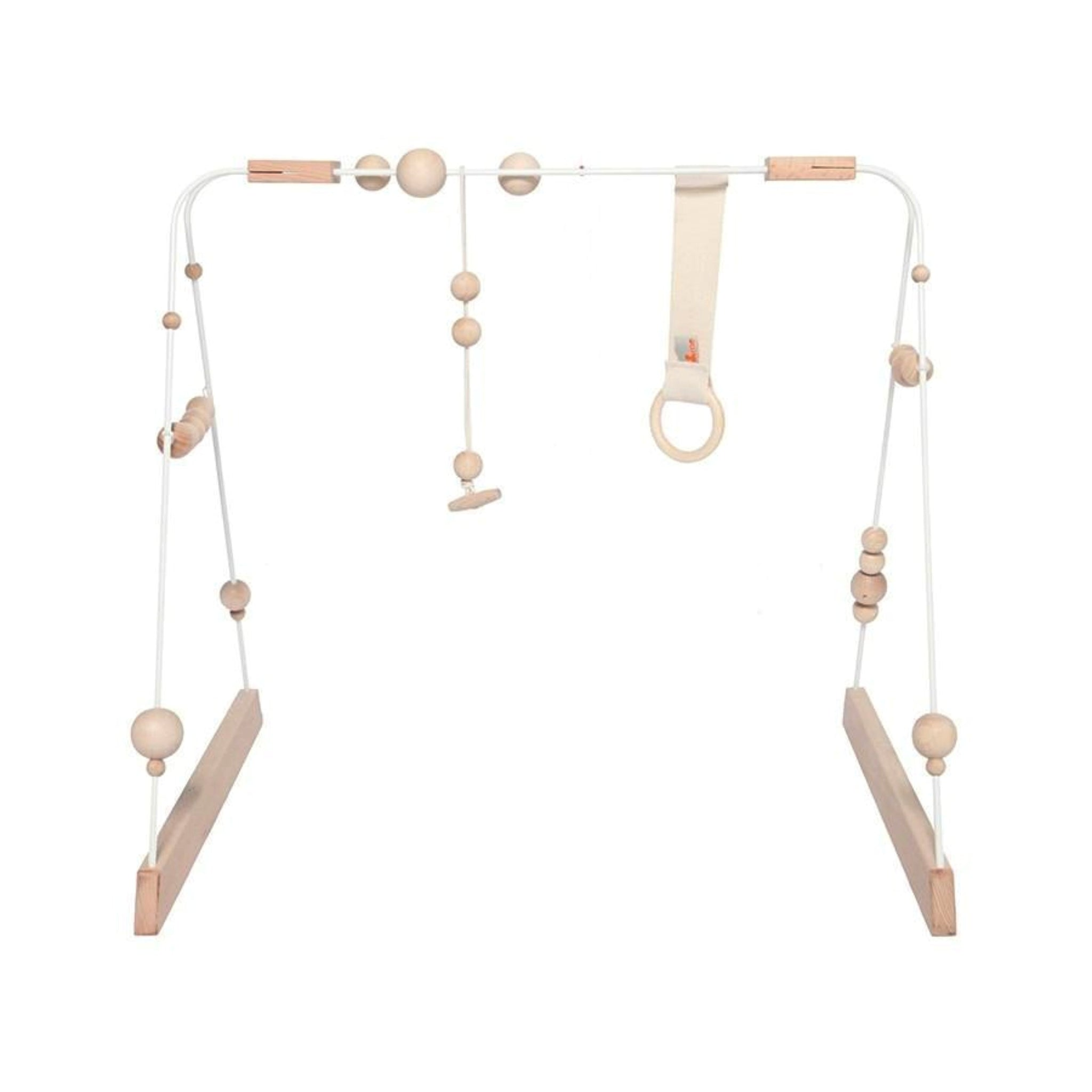 Scandi style Wooden Baby Gym perfect for the modern minimalist nursery decor.
