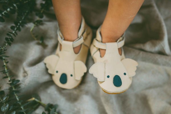 Donsje Leather Spark Velcro Baby Shoes - Koala Shoes - Suzemu