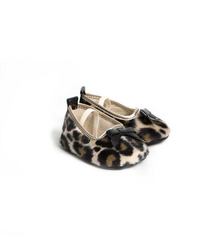 Grace Leopard Print Baby Ballerina Pumps Shoes - Suzemu