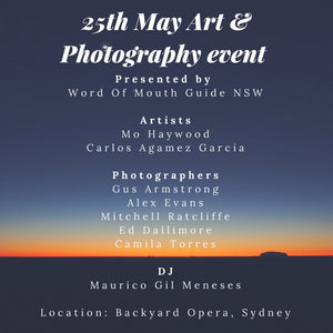 Word of Mouth Art & Photography Event Friday 25th May 2018