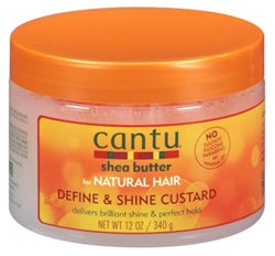 Cantu Natural Hair Define And Shine Custard 12oz Jar