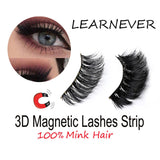 4pcs/Pair Magnetic Magnet Eyelashes Eye Makeup Kit Thick Good Quality 3d Mink Magnetic False Eyelashes Dropship