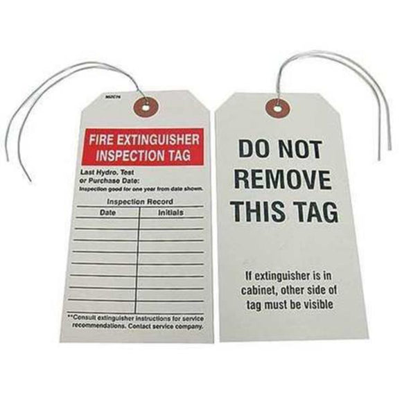 Badger Tag Fire Extinguisher Inspection Tag - Hardware X Supply