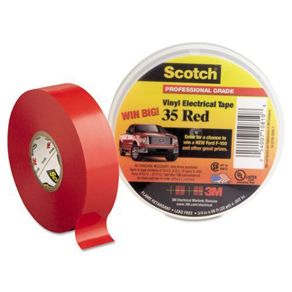 Scotch Vinyl Electrical Color Coding Tapes 35, 66 ft x 3/4 in - Hardware X Supply