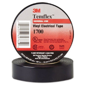 Temflex Vinyl Electrical Tapes 1700, 60 ft x 3/4 in - Hardware X Supply