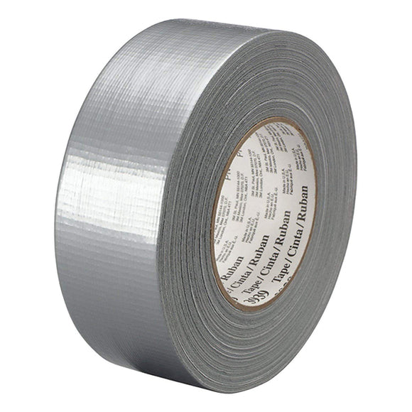 Silver Duct Tapes 3939, Silver, 48 mm x 55 m x 9 mil - Hardware X Supply