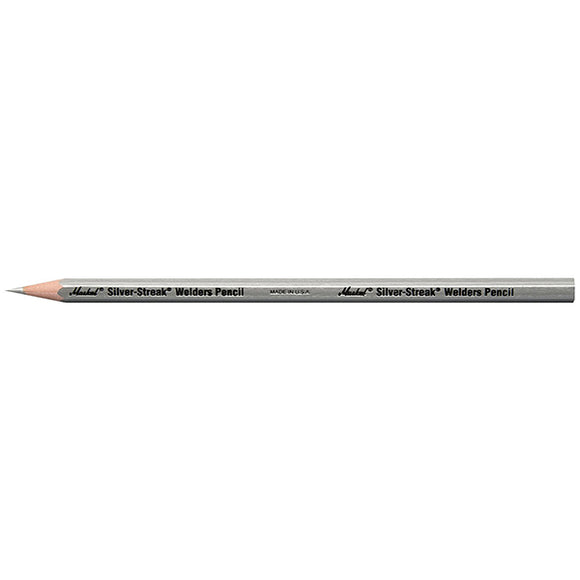 Markal 96101 Silver Streak Welders Pencil, Silver (Pack of 12) - Hardware X Supply