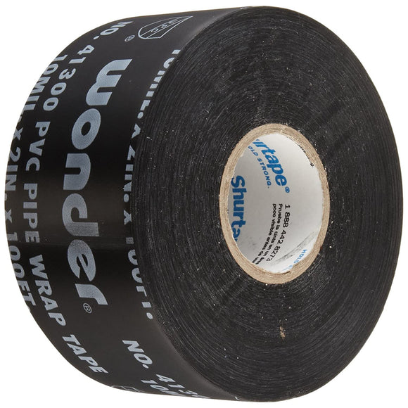 Shurtape PW-100 Corrosion Protection Pipe Wrap Tape: 2 in. x 100 ft, black