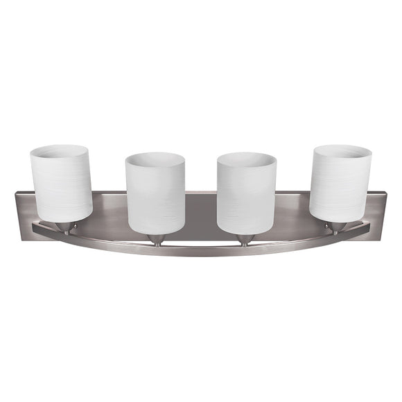 Nuk3y Modern Bathroom Vanity Light Fixture with 4 Light Globe - Hardware X Supply