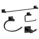"Nuk3y  Nova 4-Piece Bathroom Hardware Accessory Set with 24"" Towel Bar"