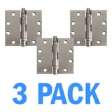 "Nuk3y 4.5"" x 4.5"" , 2 Ball Bearing Hinge, Non-Removable Pin (3 Pack) - Hardware X Supply"