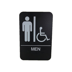 "Cal Royal Men ADA Restroom Sign, 6"" x 9"" - Hardware X Supply"