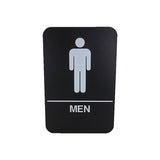 "Cal Royal Men Restroom Sign, 6"" x 9"" - Hardware X Supply"