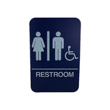 "Cal Royal Men & Women ADA Restroom Sign, 6"" x 9"" - Hardware X Supply"