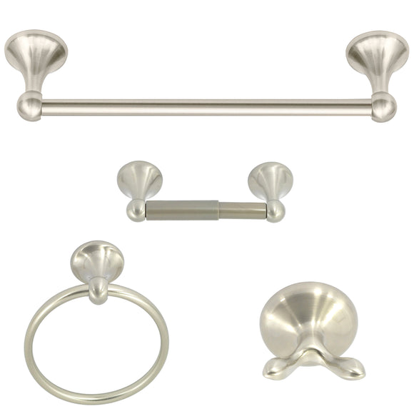 Nuk3y 4-Piece Bathroom Hardware Accessory Set with 24
