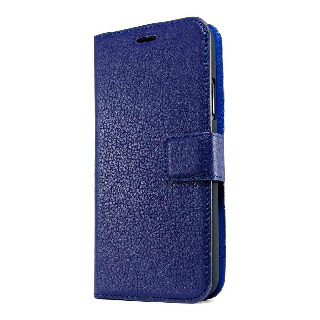 new style b3b4b 4215a Midnight Blue Leather Wallet - iPhone X