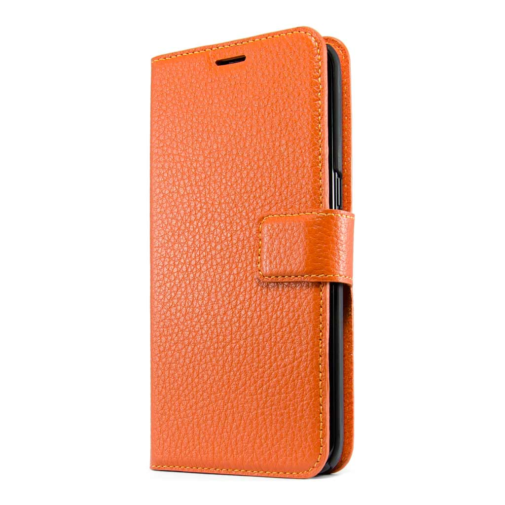competitive price ec666 074a1 Intense Orange Leather Wallet - Galaxy S7 Edge