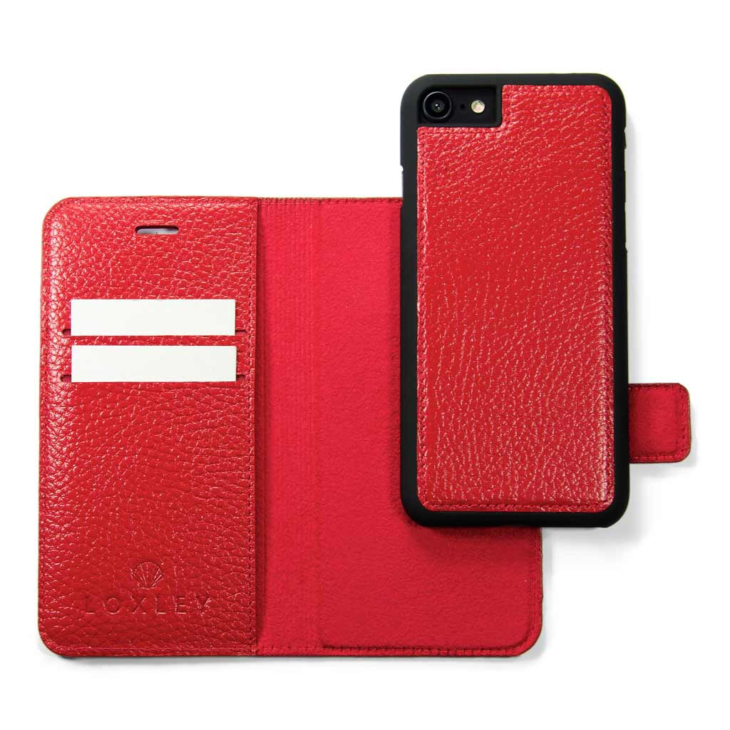 huge discount 93afc 98f3c Fiery Red Leather Wallet - iPhone 8