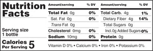 Nutrition Facts Dietary Fiber