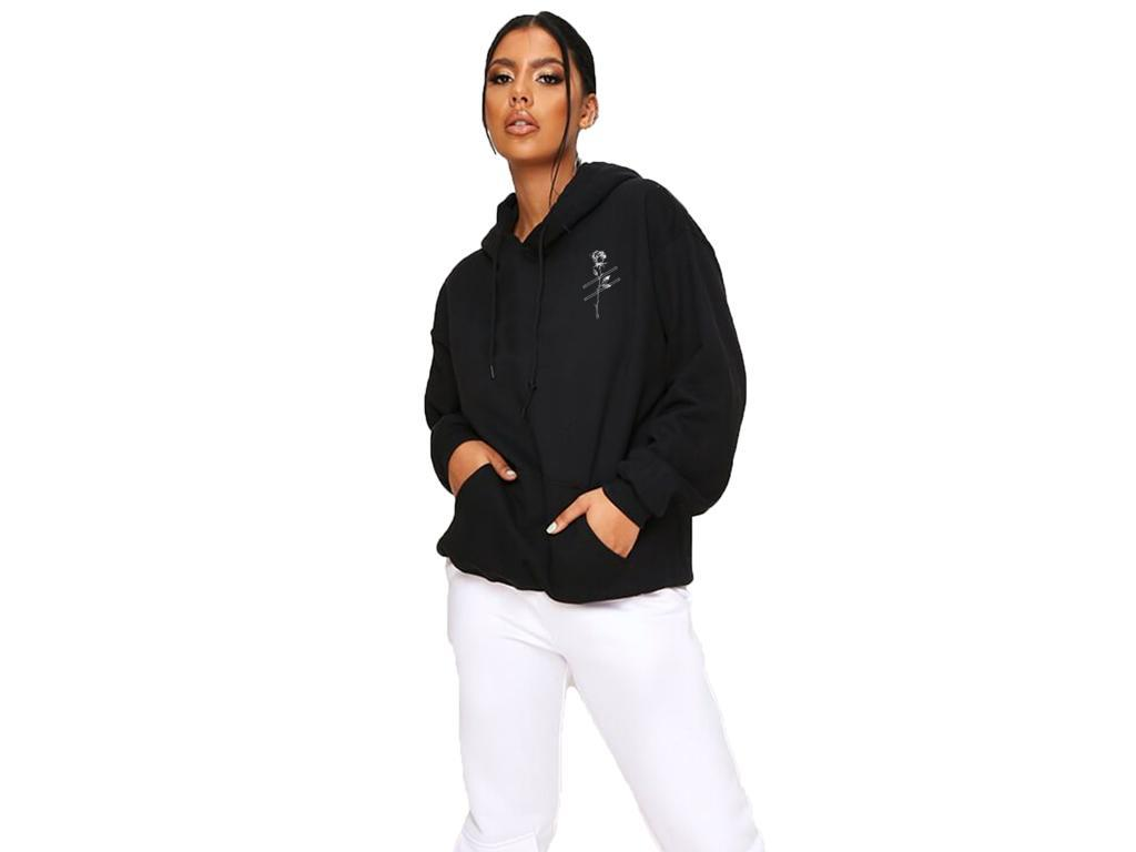 Black Strike-Rose Kovic Unisex Embroidered Hoodie *Exclusive first drop*