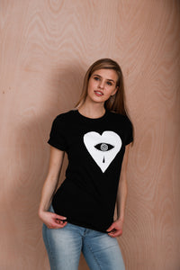 Kovic - Heart T-Shirt Black