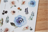 MU Print-On Sticker - Botanical Series 32 - Blue Roses