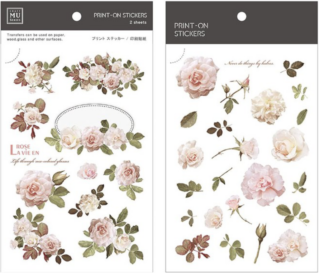 MU Print-On Sticker - Botanical Series 34 - Classical Rose