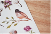 MU Print-On Sticker - Botanical Series 36 - Bird Garden Cotton Field