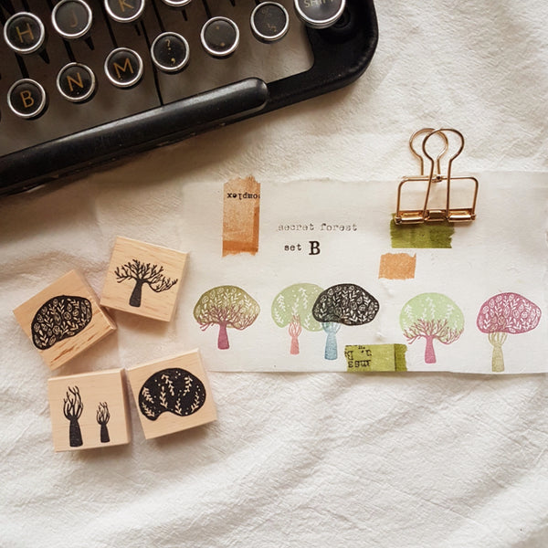 novebyvivent rubber stamp - secret forest Set B